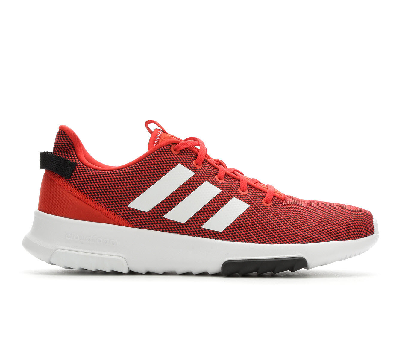 Men's Adidas Cloudfoam Racer TR Running Shoes Red/White/Black