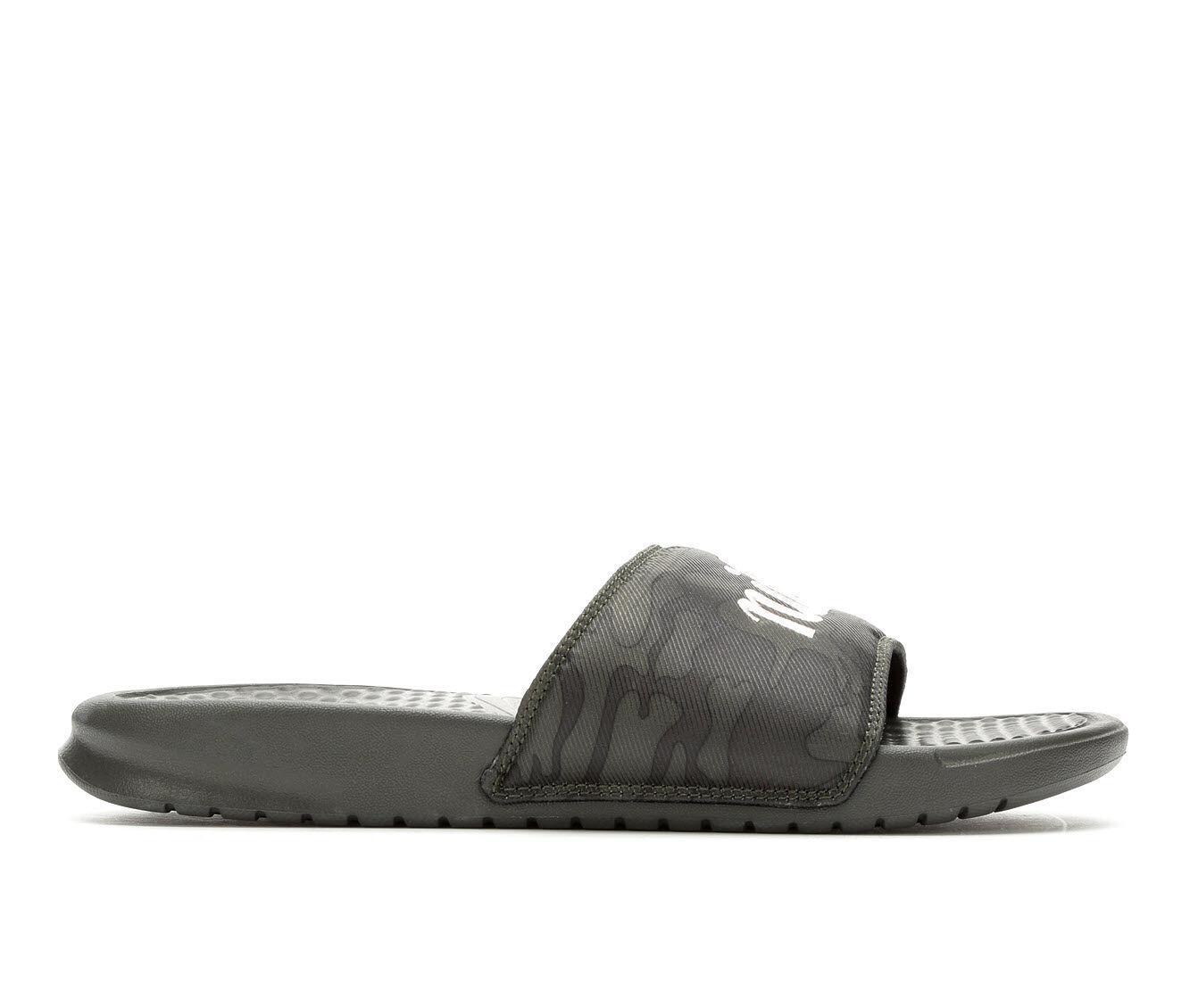 Women's Nike Benassi JDI Camo Sport Sandals Olive/Pink Khak