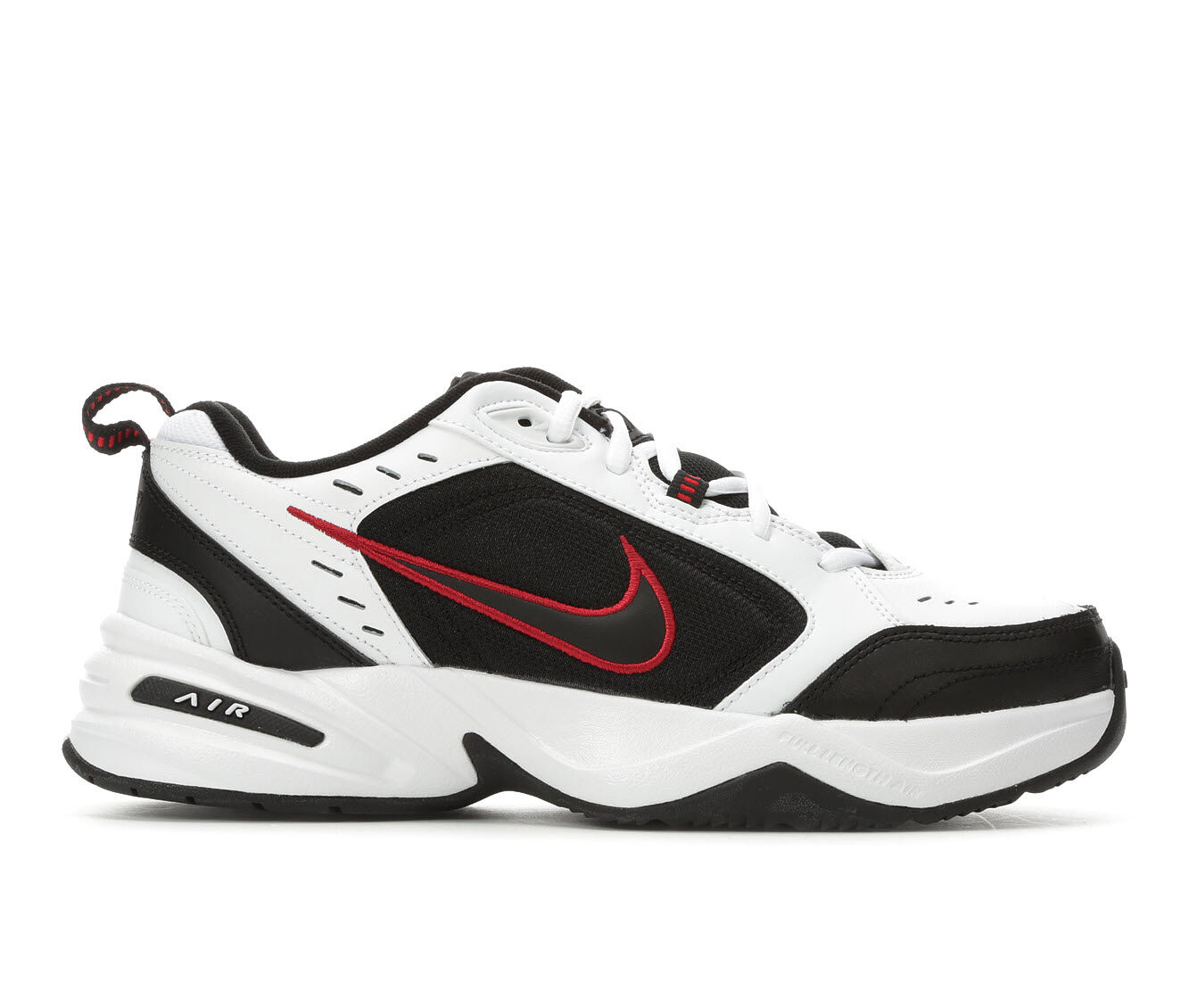 Men's Nike Air Monarch IV Training Shoes Wht/Black/Red