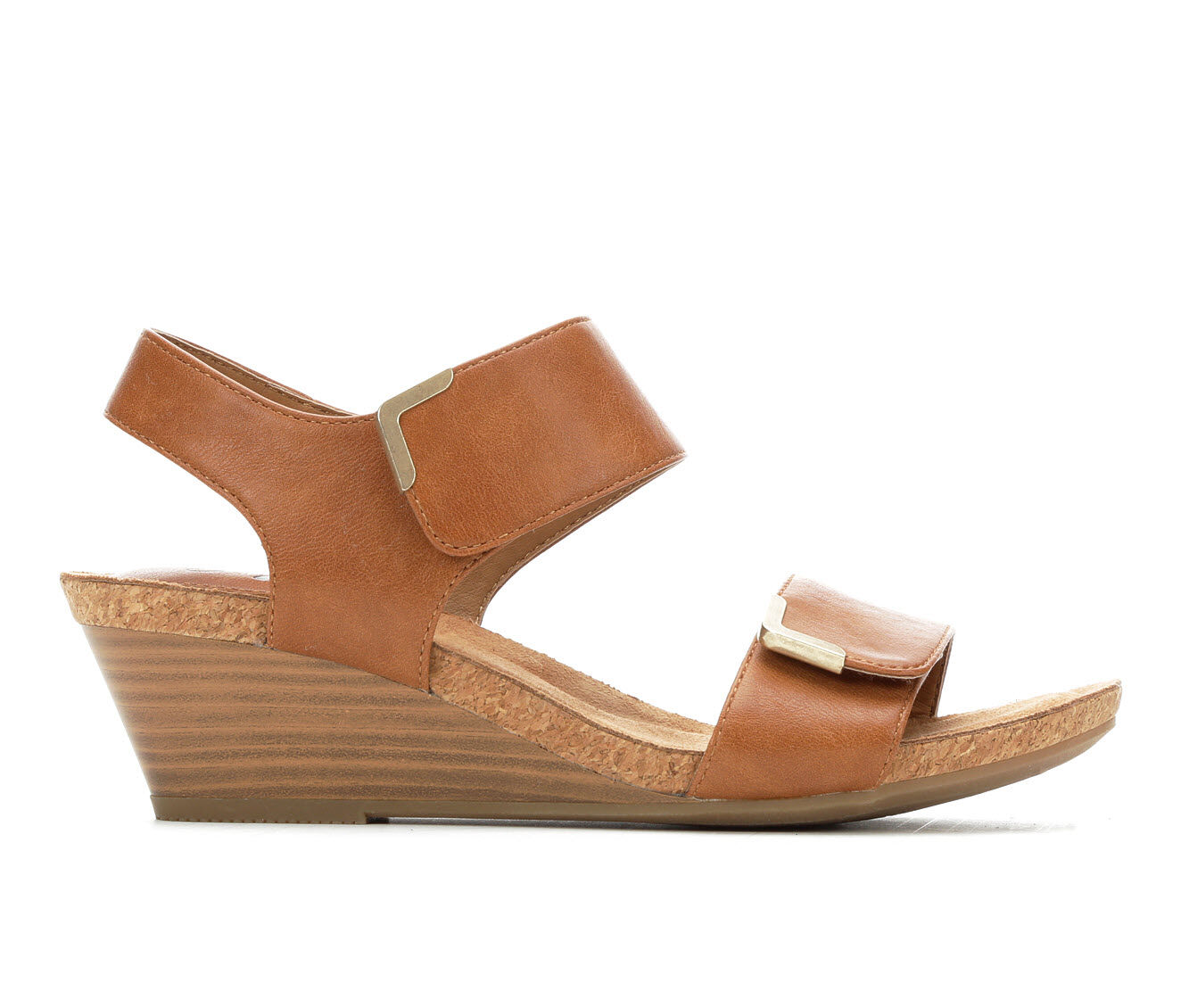 Best Buy Women's Vintage 7 Eight Maria Wedge Sandals Cognac