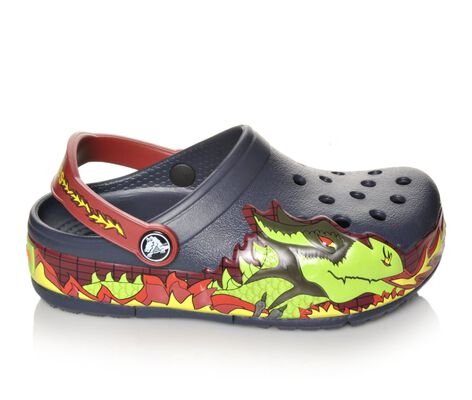 Boys' Crocs CrocsLights Fire Dragon Clog Light-Up Shoes