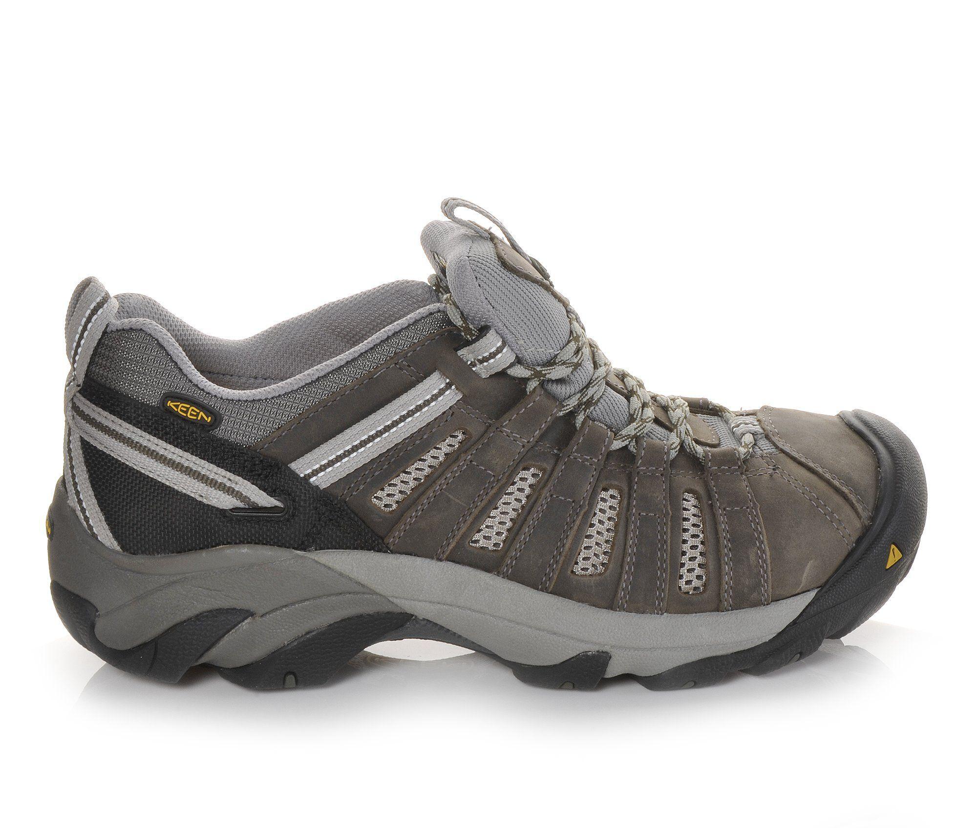 find discount Men's KEEN Utility Flint Low Steel Toe Work Shoes Gargoyle/Forest