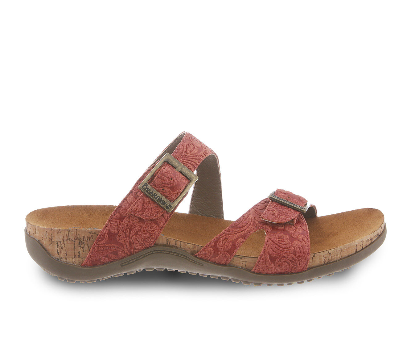 Women's Bearpaw Maddie Strappy Footbed Sandals Redwood