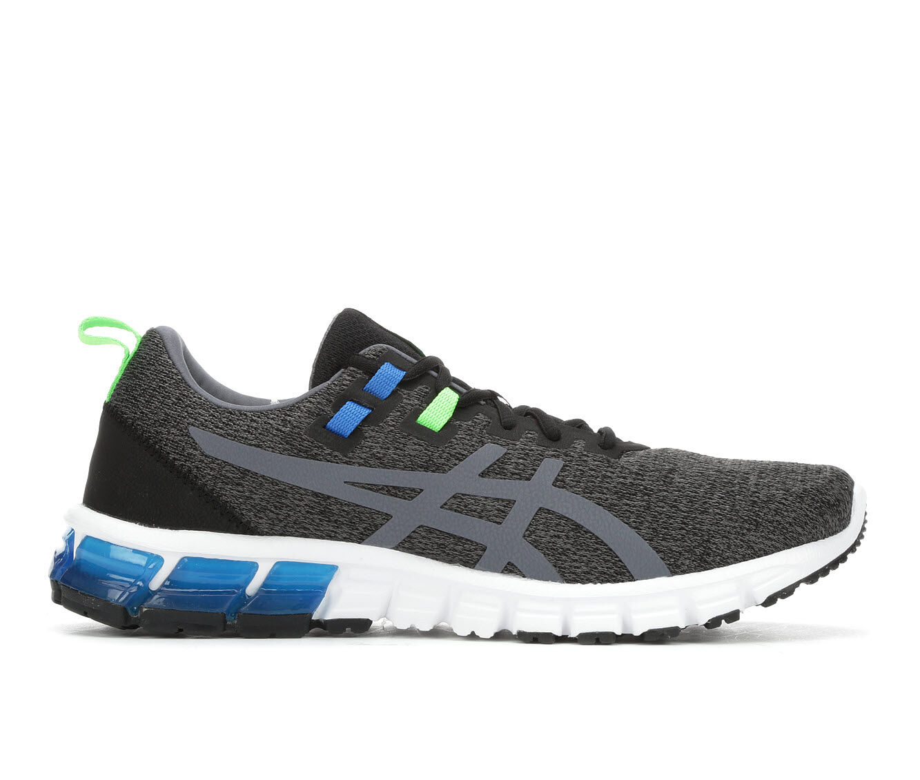 Men's ASICS Gel Quantum 90 Running Shoes Gry/Blu/Grn
