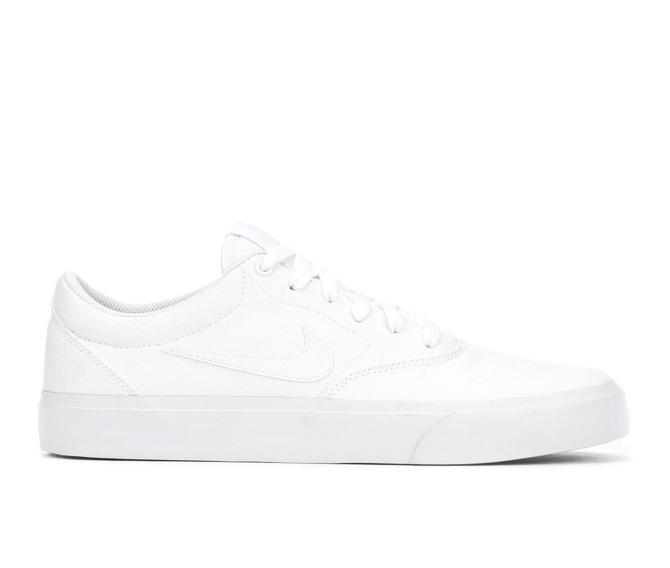 Men's Nike SB Charge Skate Shoes Wht/Wht/Wht 100