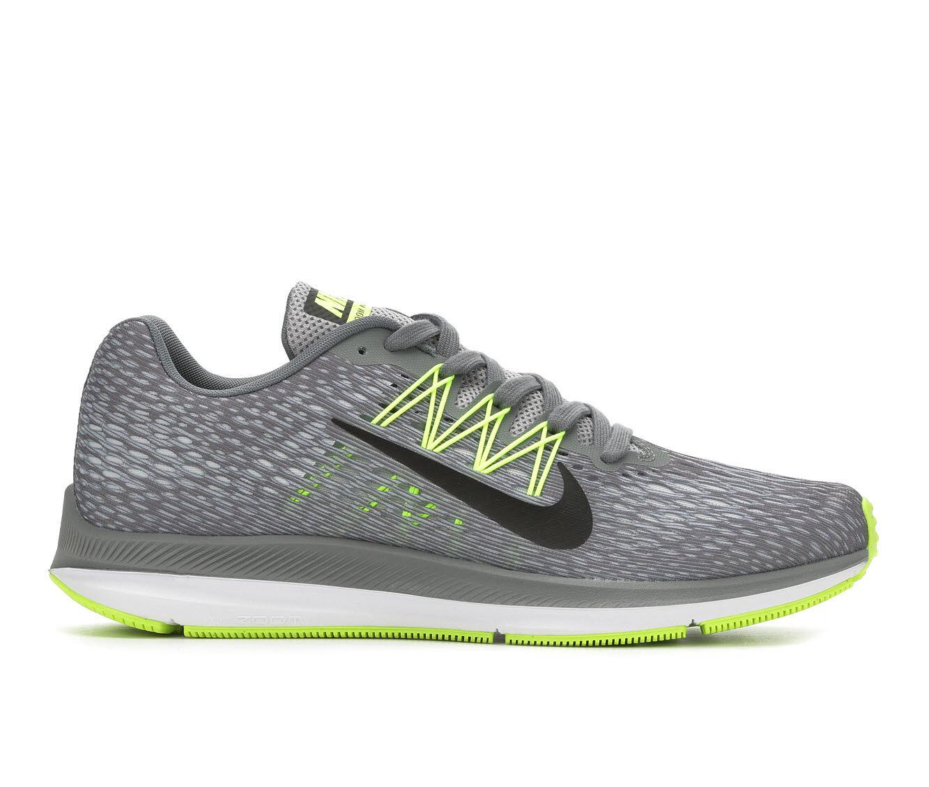 Men's Nike Zoom Winflo 5 Running Shoes Gry/Blk/Vlt