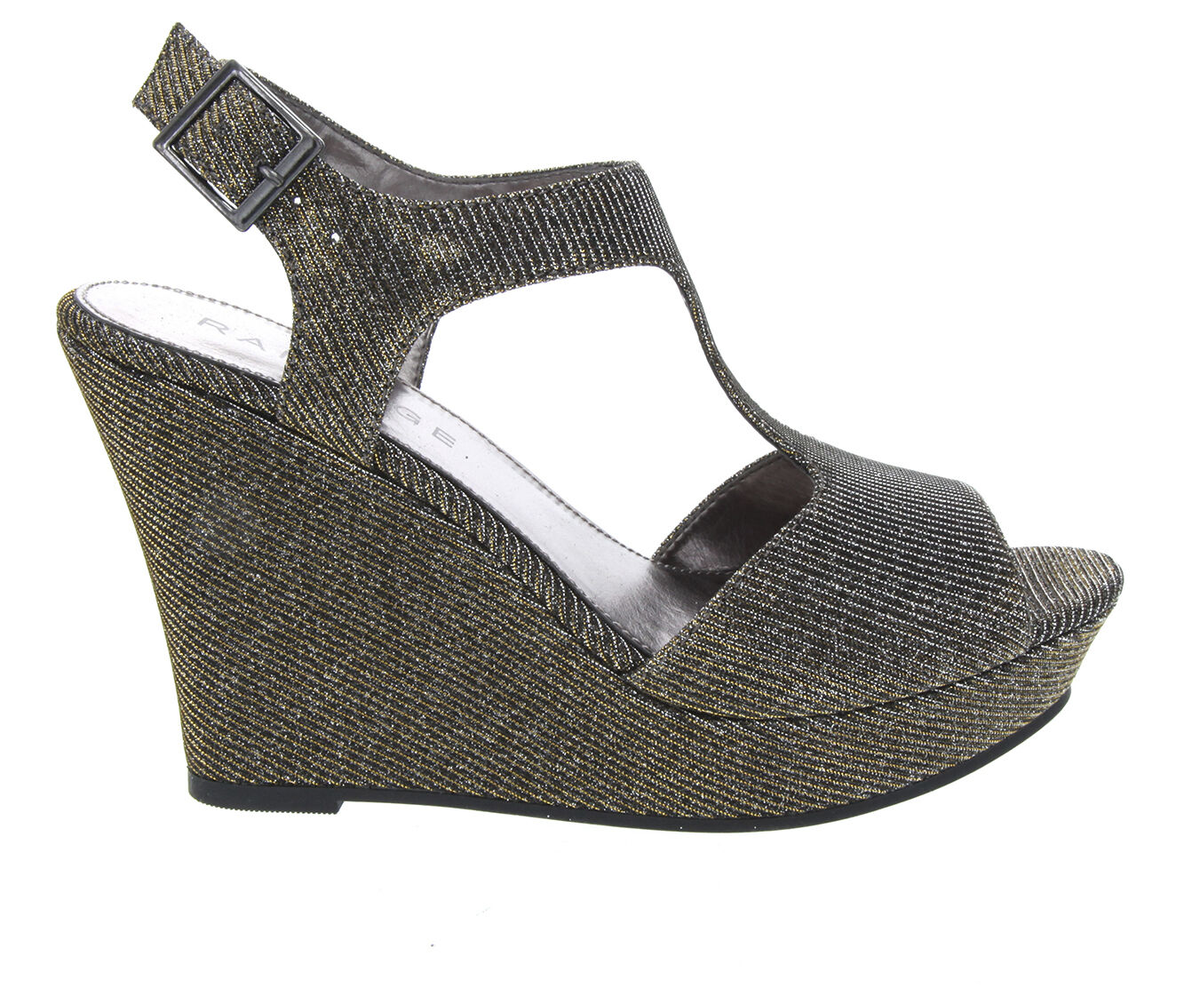 Women's Rampage Candelas Wedge Dress Sandals Antique Bronze