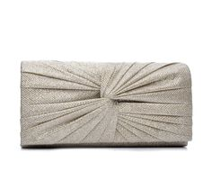 Four Seasons Handbags Large Metallic Evening Clutch