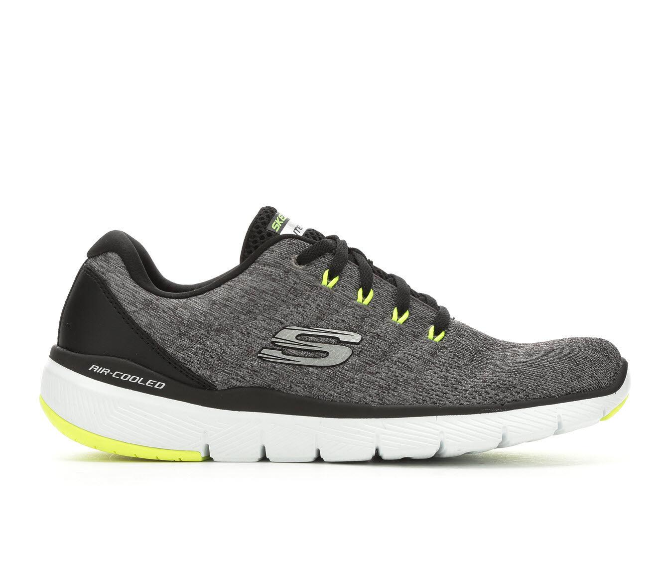 Men's Skechers Stally 52957 Running Shoes Gy/Bk/Vt/W
