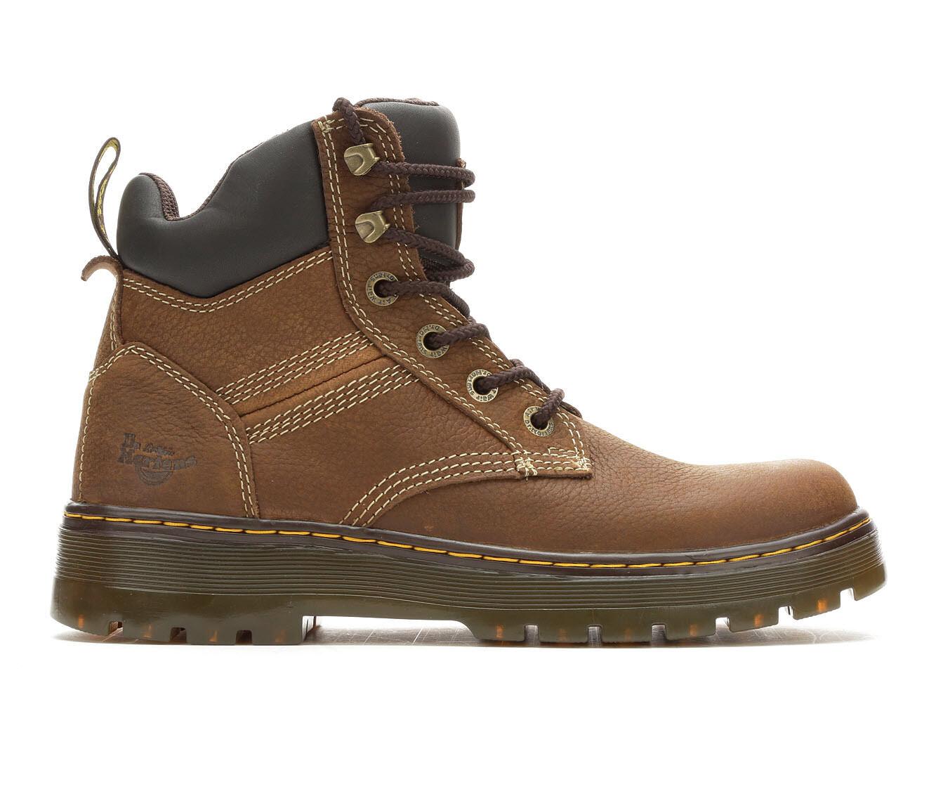 Popularity Best Men's Dr. Martens Industrial Gabion Work Boots Whiskey