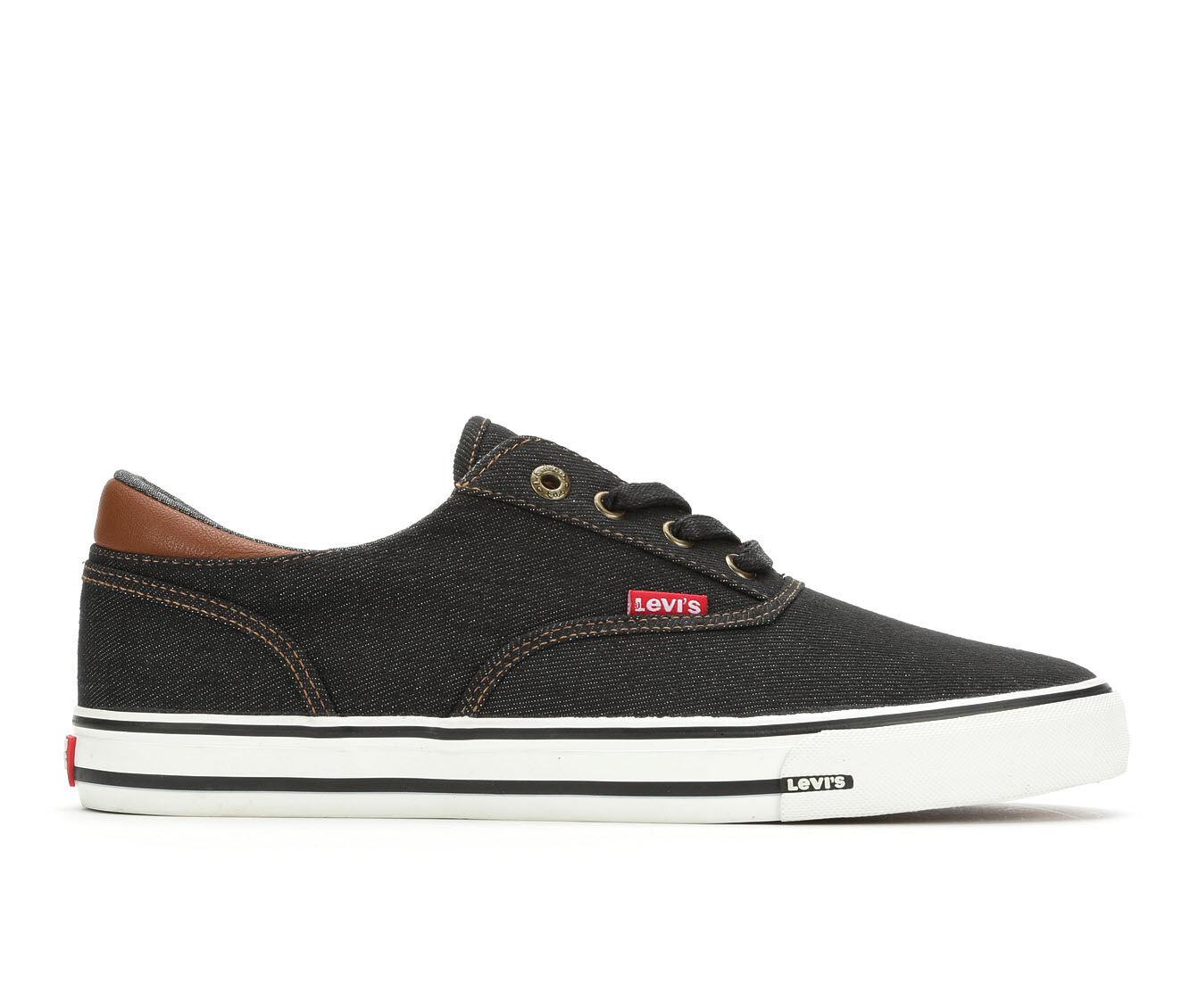 Men's Levis Ethan Denim ll Casual Shoes Black/Tan