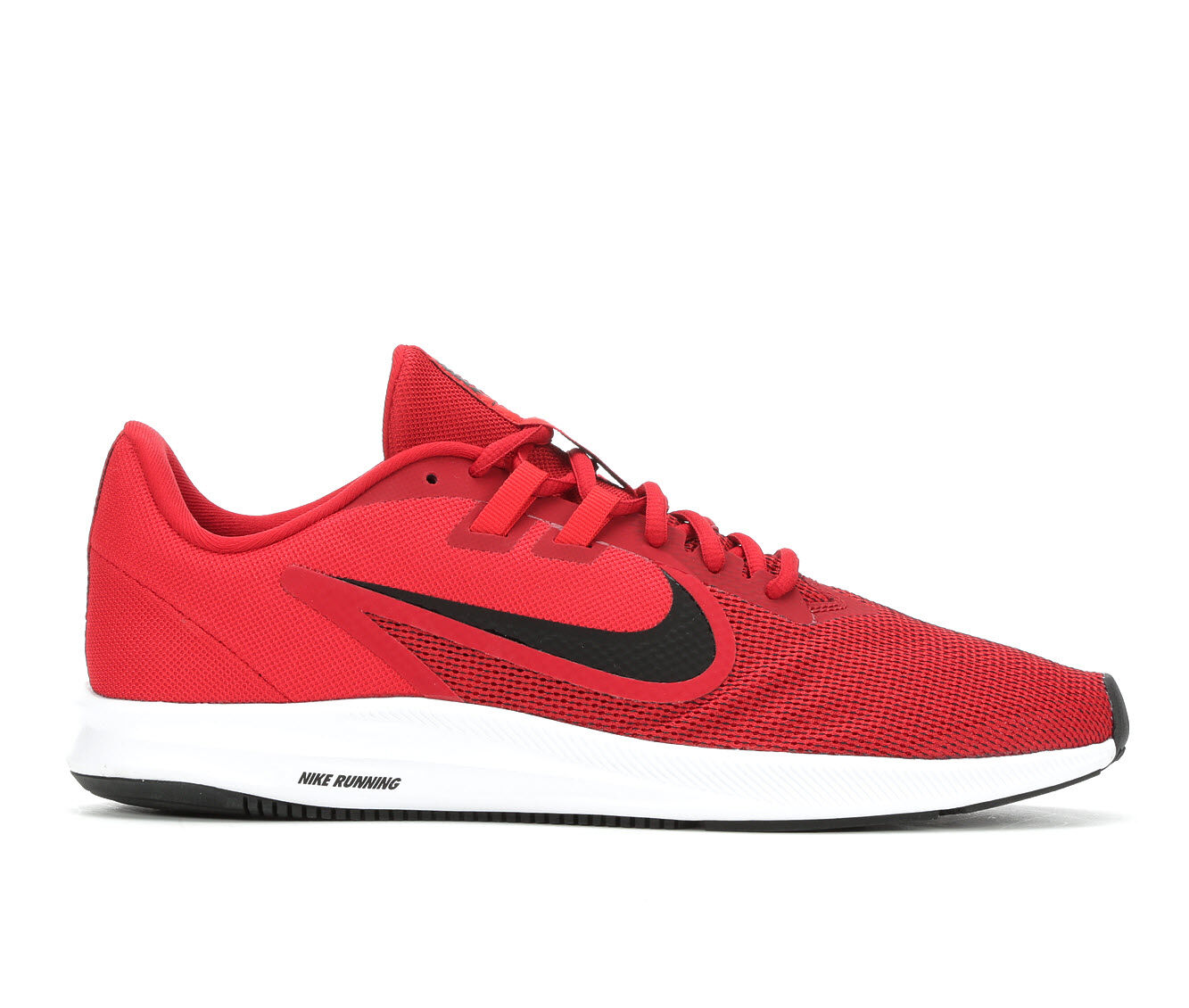 Men's Nike Downshifter 9 Running Shoes Red/Wht/Blk 600