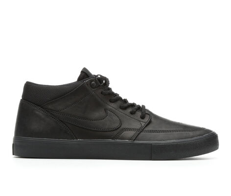 Men's Nike Portmore II Solar Mid Leather Premium Skate Shoes