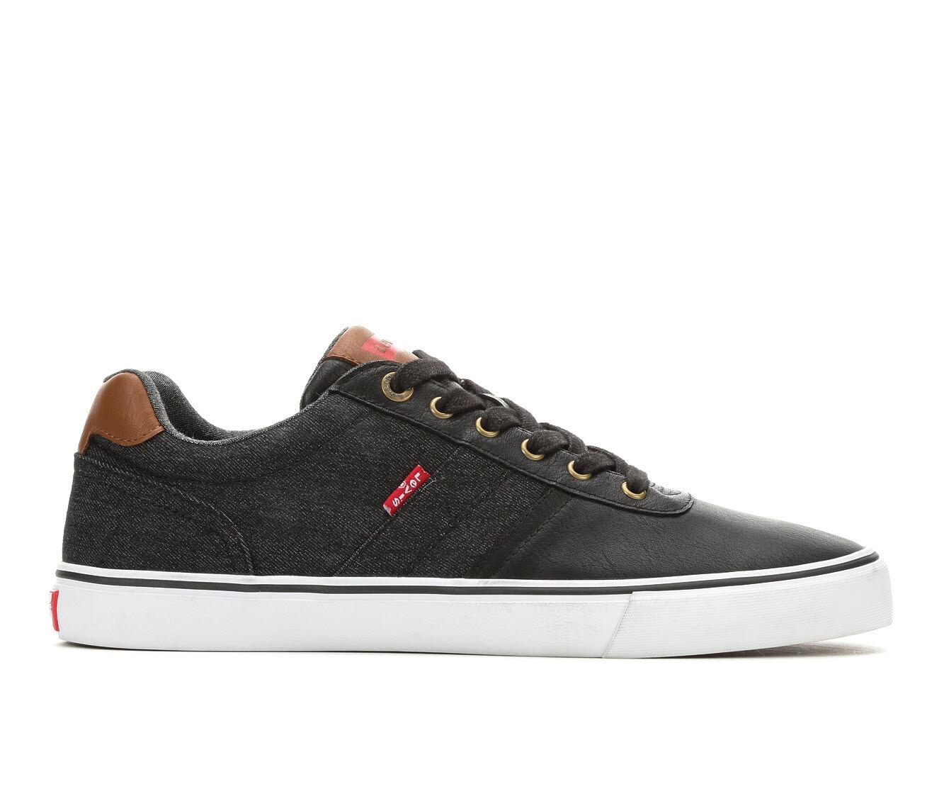 summer offer Men's Levis Miles Cacti Denim Casual Shoes Black
