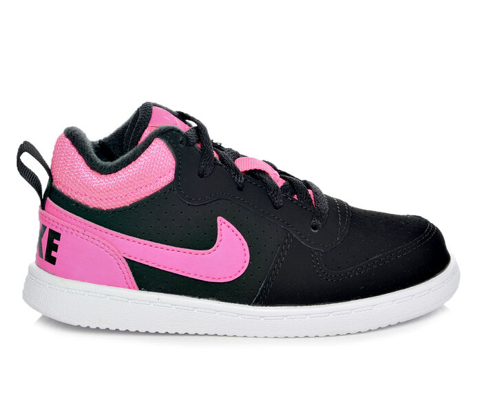 Girls' Nike Infant Court Borough Mid 2-10 Girls Basketball Sneakers