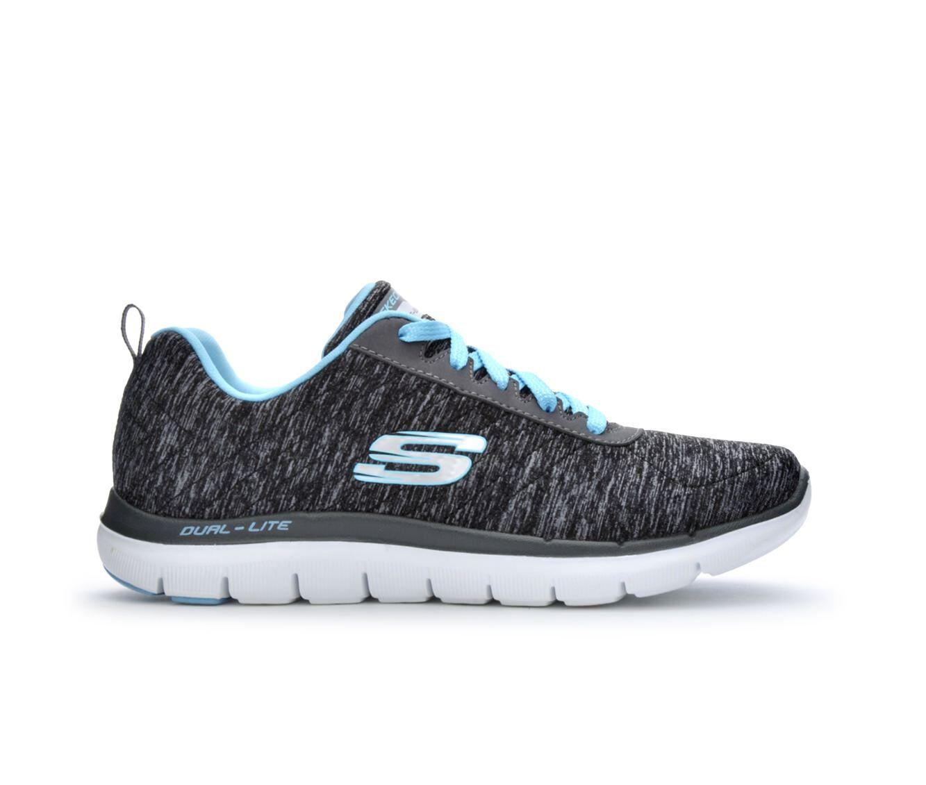 Women's Skechers Flex Appeal 2 12753 Sneakers Black/Lt Blue