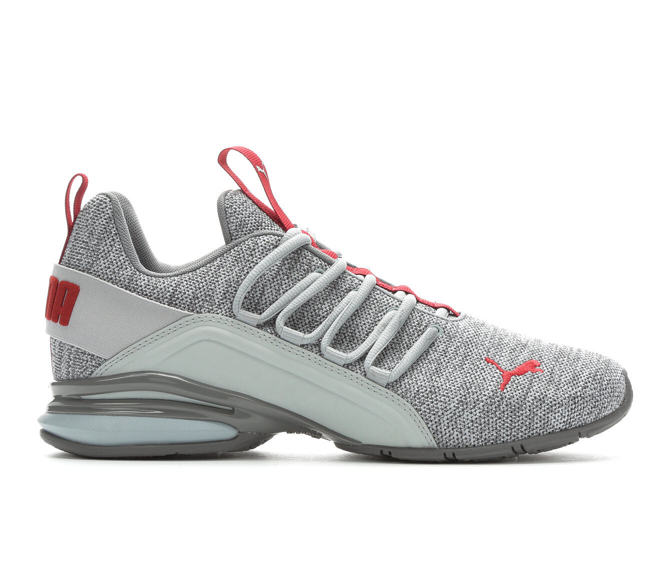 Men's Puma Axelion Knit Sneakers Grey/Burgundy