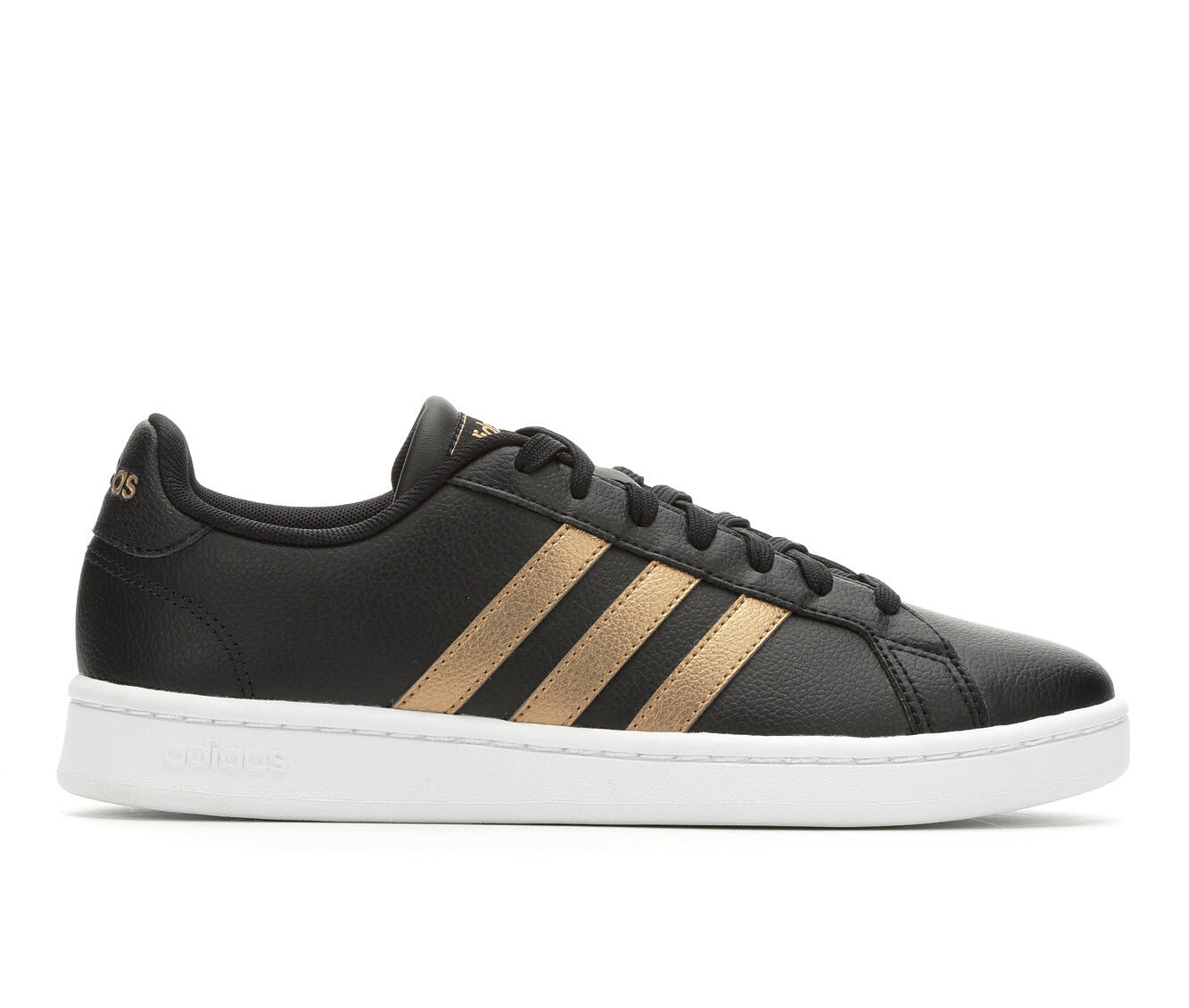 Women's Adidas Grand Court Basketball Shoes Black/Copper/Wh