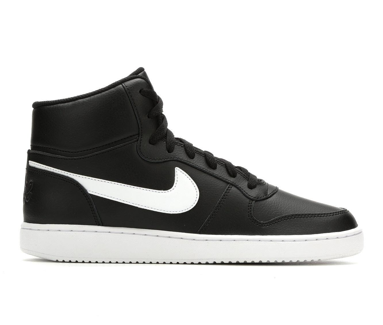 Men's Nike Ebernon Mid Sneakers Blk/Wht