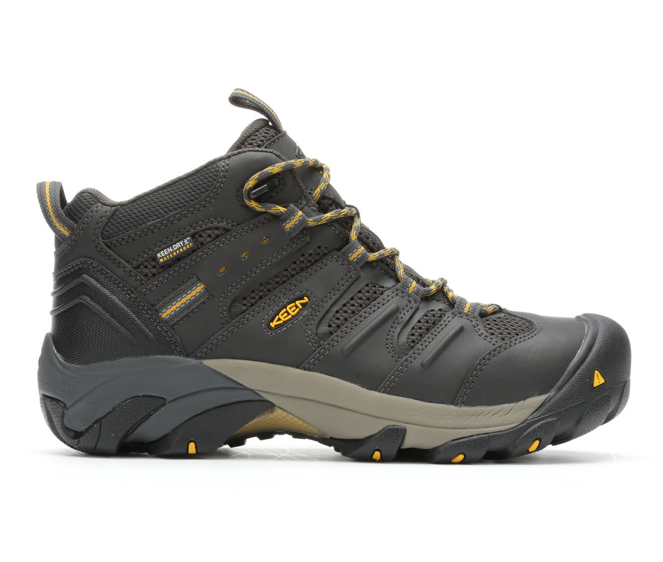 Men's KEEN Utility Lansing Mid Steel Toe Waterproof Work Boots Raven/Olive