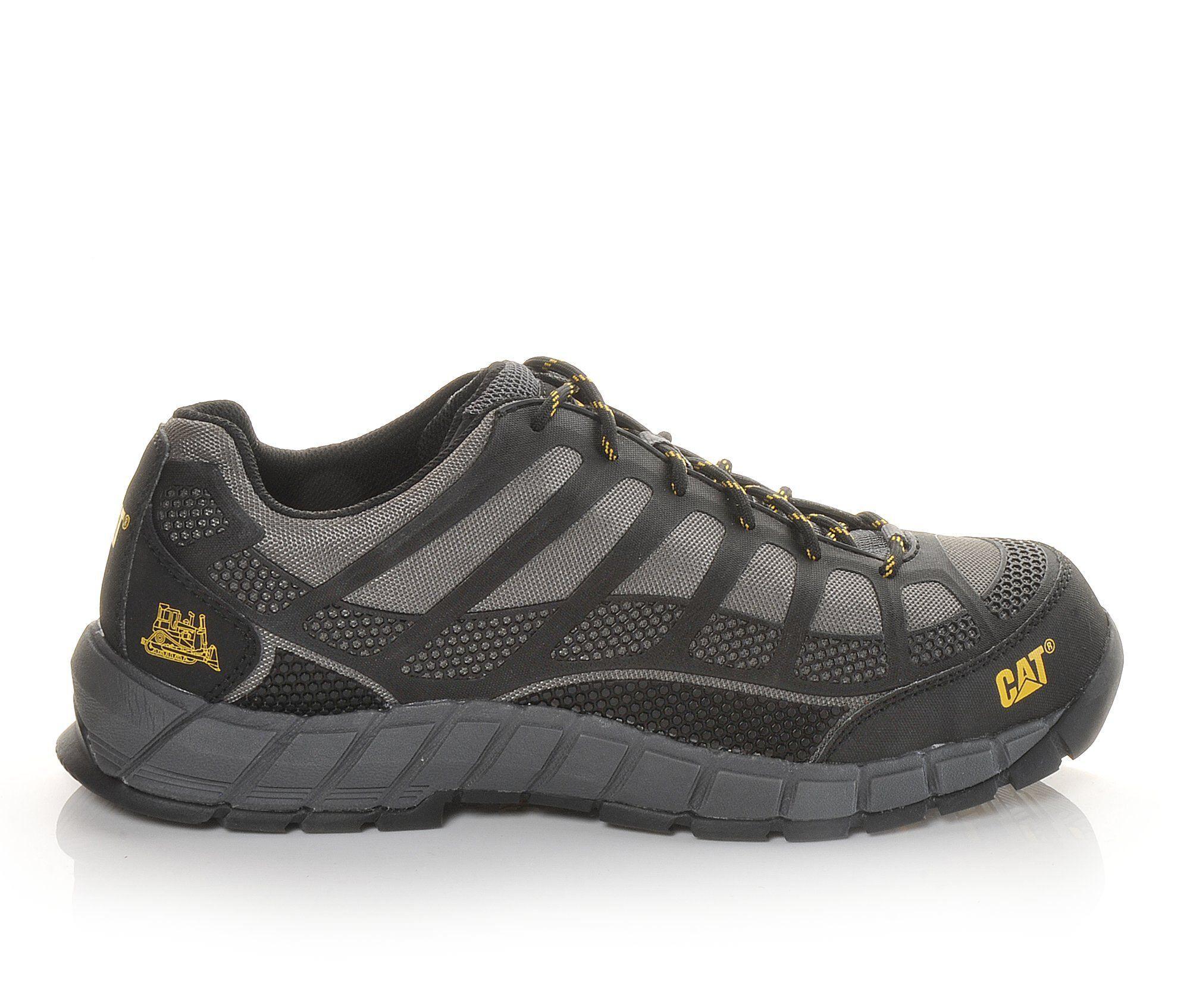 Men's Caterpillar Streamline Composite Toe Work Shoes Grey/Black