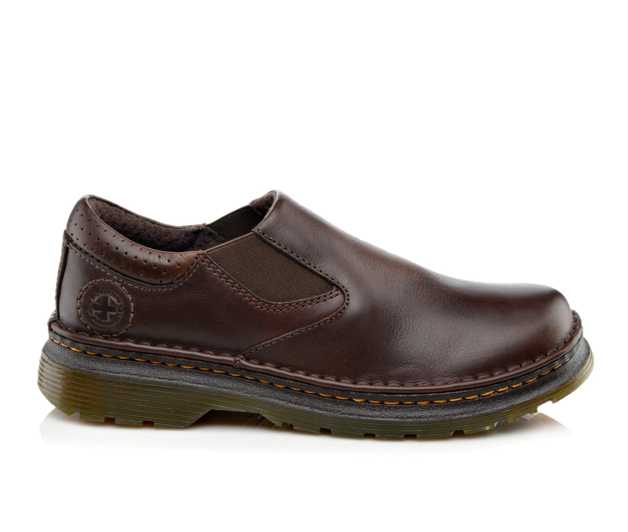 Men's Dr. Martens Orson Slip On Plain Toe Loafers Dark Brown