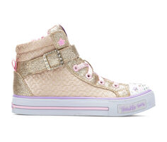 Girls' Skechers Little Kid & Big Kid Shuffles Twinkle Charm High Top Light-Up Shoes