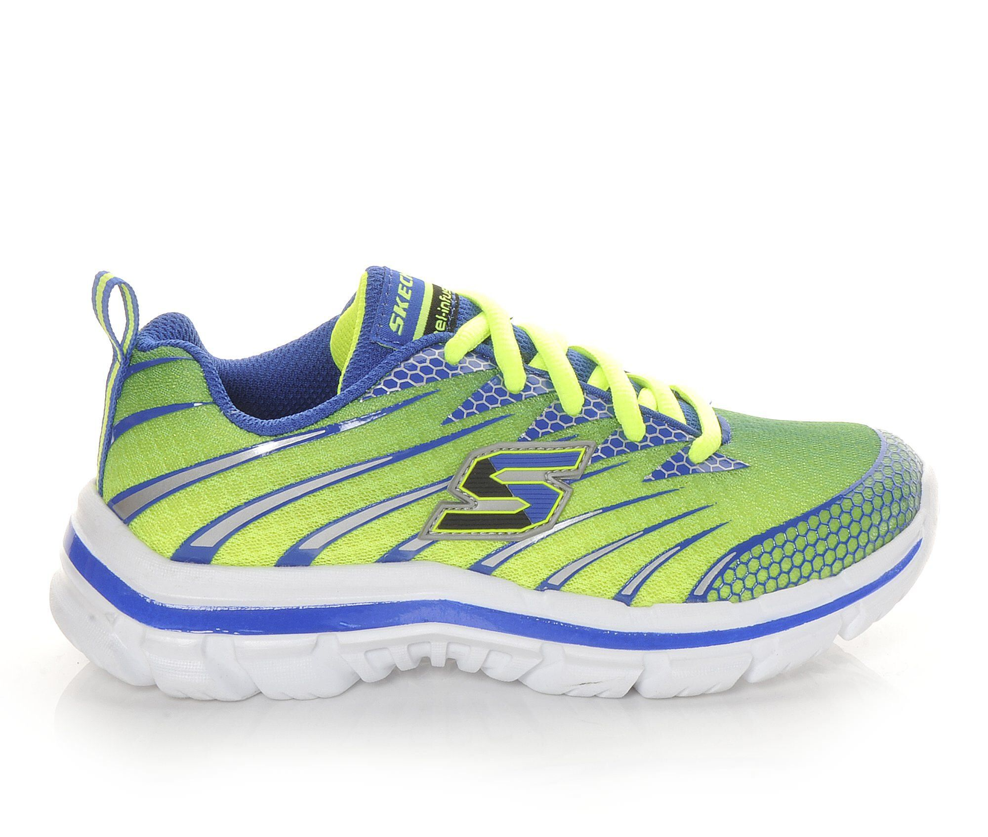 Skechers Shoes Skechers Nitrate Wide 10 5 7 Boys Sports Shoes Lime/Blue