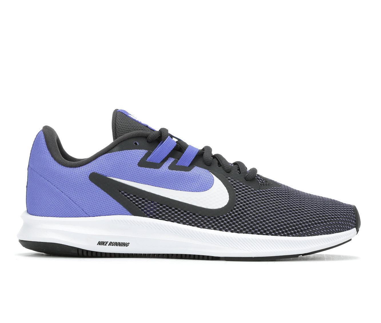 Women's Nike Downshifter 9 Running Shoes Blu/Blk/Wht