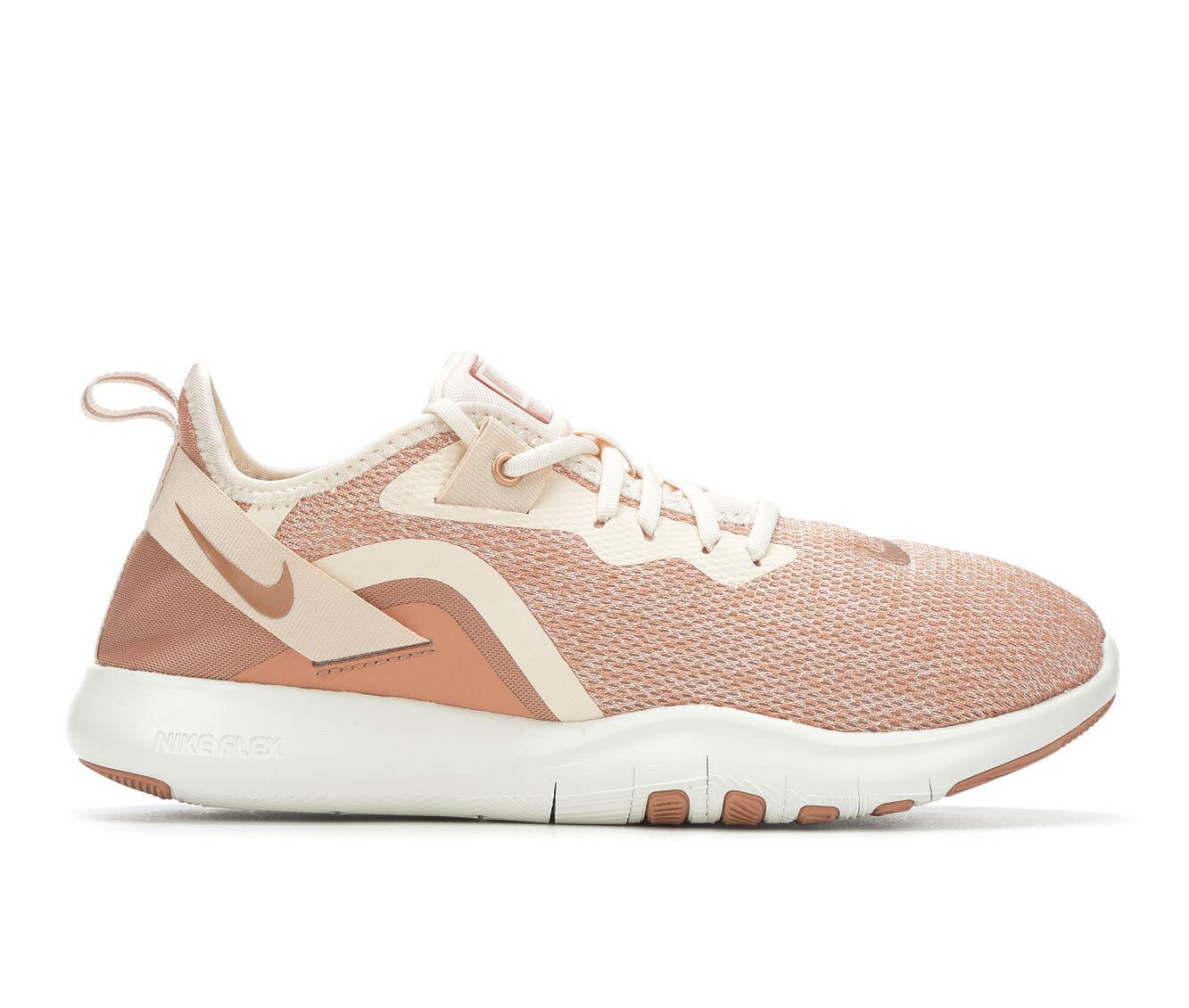 Women's Nike Flex Trainer 9 Prem Training Shoes Guava/Rd Bronze