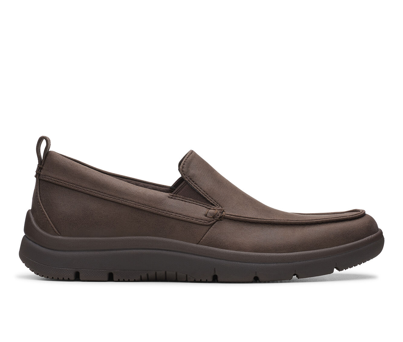 Men's Clarks Tunsil Way Slip-On Shoes Brown