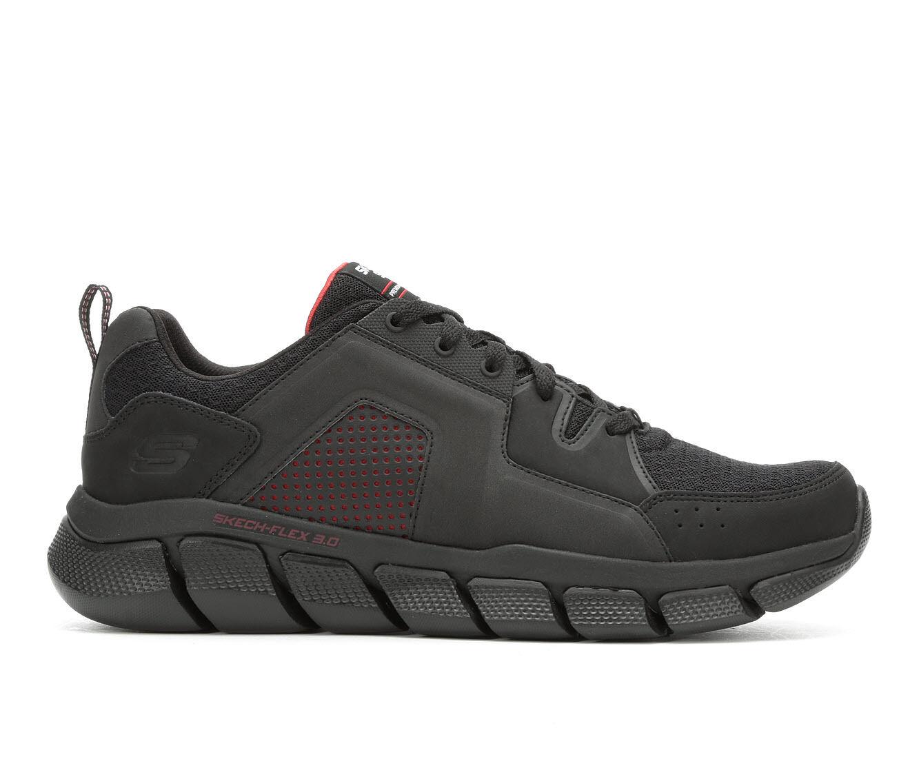 Men's Skechers Flex 3.0 52845 Running Shoes Blk/Red