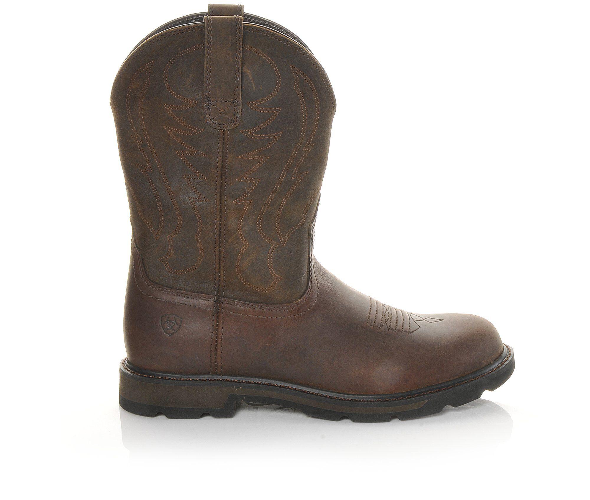 Men's Ariat Groundbreaker Work Boots Brown