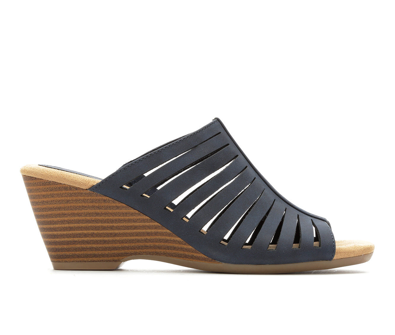 cheapest new Women's Solanz Paige Wedge Sandals Navy