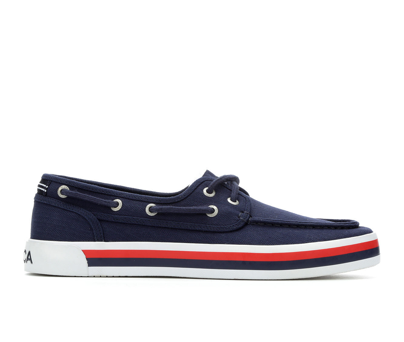 100% Quality Men's Nautica Spinnaker Casual Shoes Navy Herringbne