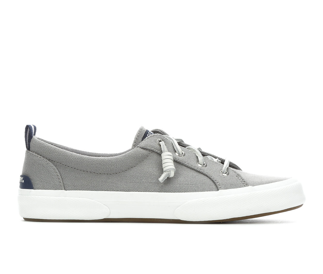 Women's Sperry Pier Wave Lace to Toe Canvas Sneakers GREY