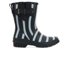 Women's Chooka Smart Stripes Mid Rain Boots