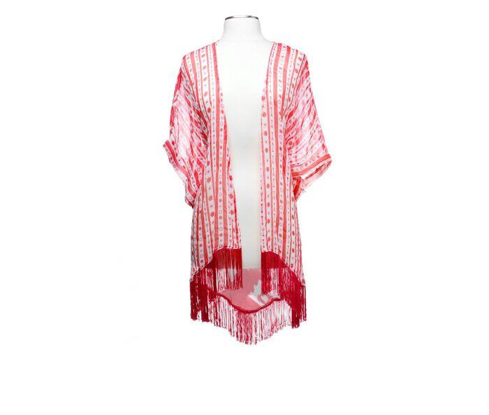 Collection 18 Arrow Ikat Printed Kimono Topper