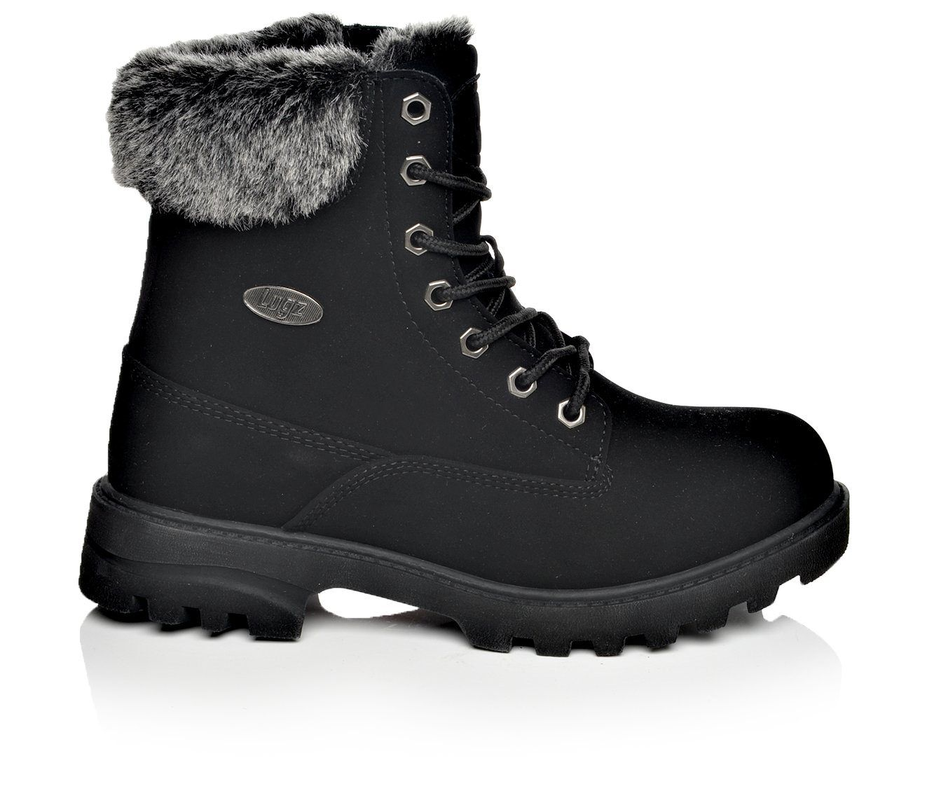 Enchanting Women's Lugz Empire Hi Fur Hiking Boots Black/Charcoal