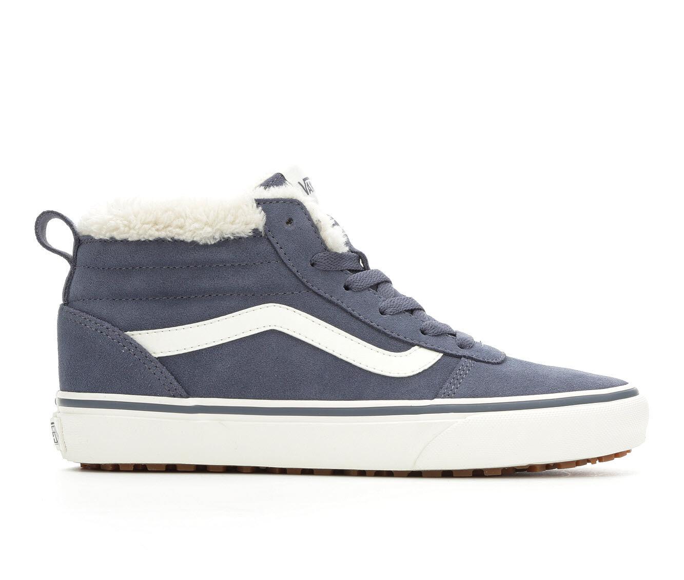Women's Vans Ward Hi MTE Skate Shoes Grisialle/White