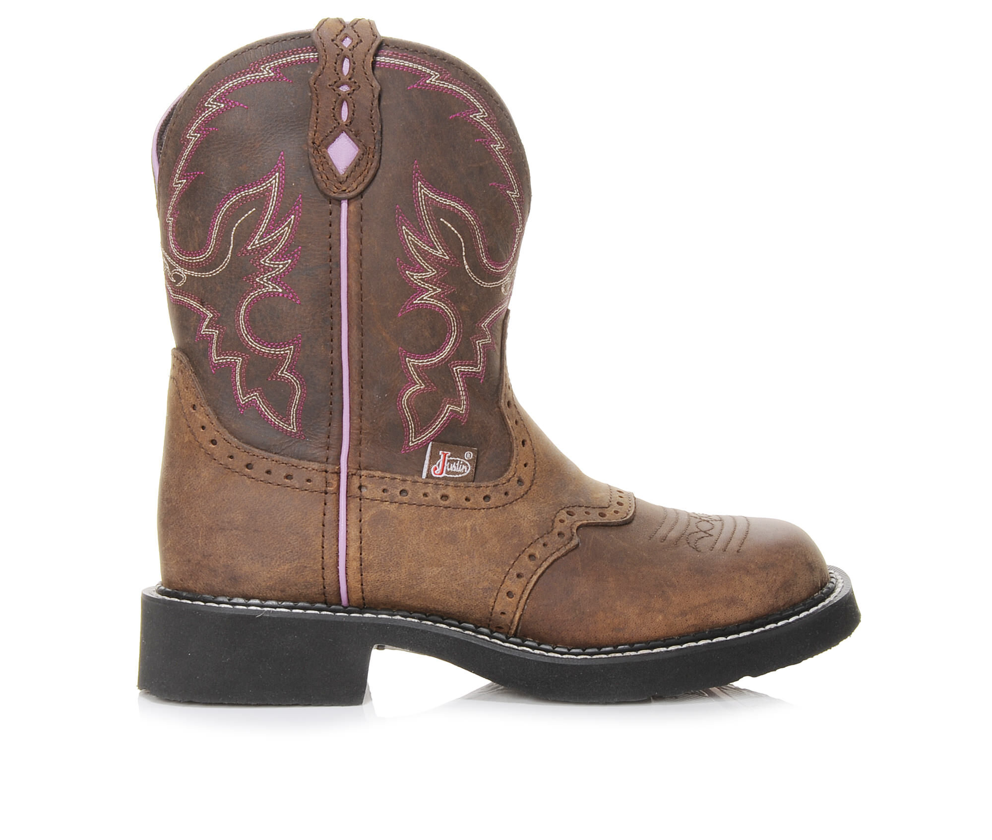 """Simple Style Women's Justin Boots Gypsy 8"""" Western Boots Brown"""