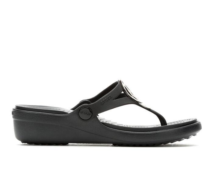 Women's Crocs Sanrah Metallic Wedge