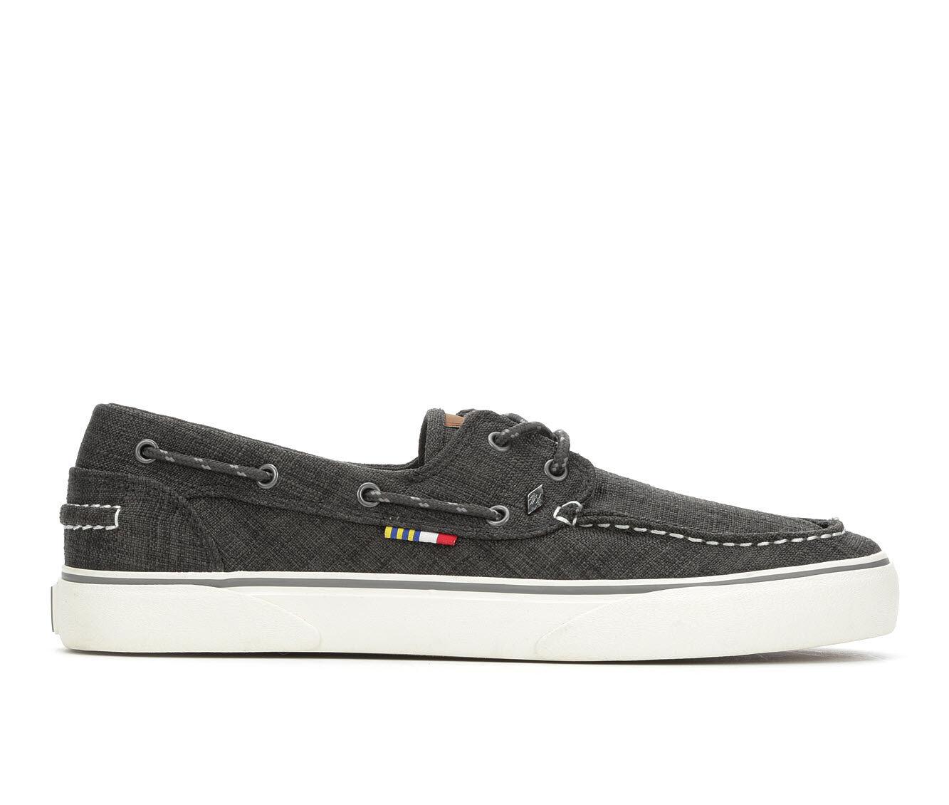 Men's Guy Harvey Gulf Linen Casual Shoes Black/Grey