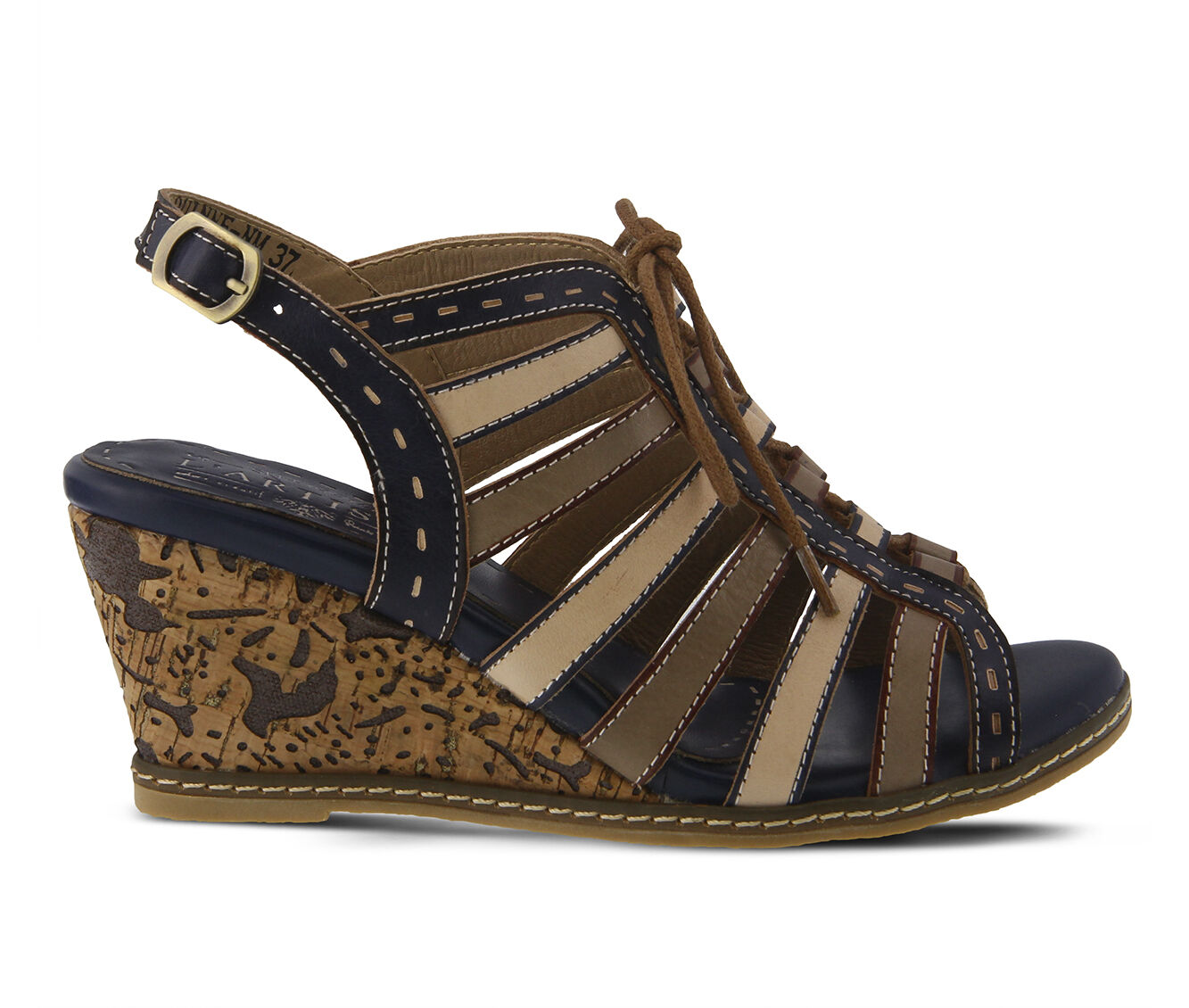 High-Fashion Women's L'ARTISTE Quinne Wedges Navy Multi