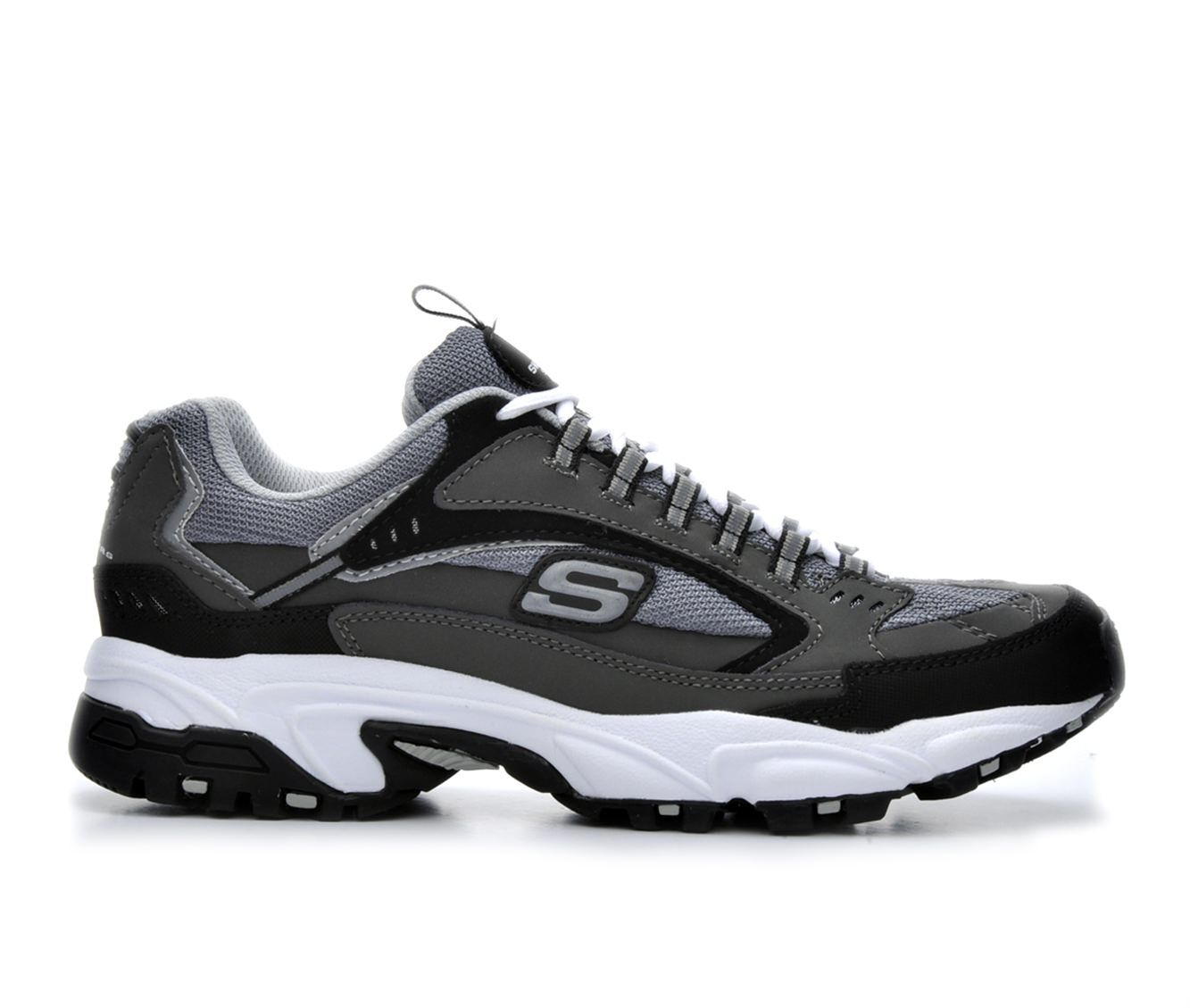 Enchanting Men's Skechers Cutback 51286 Training Shoes Gry/Blk/Wht