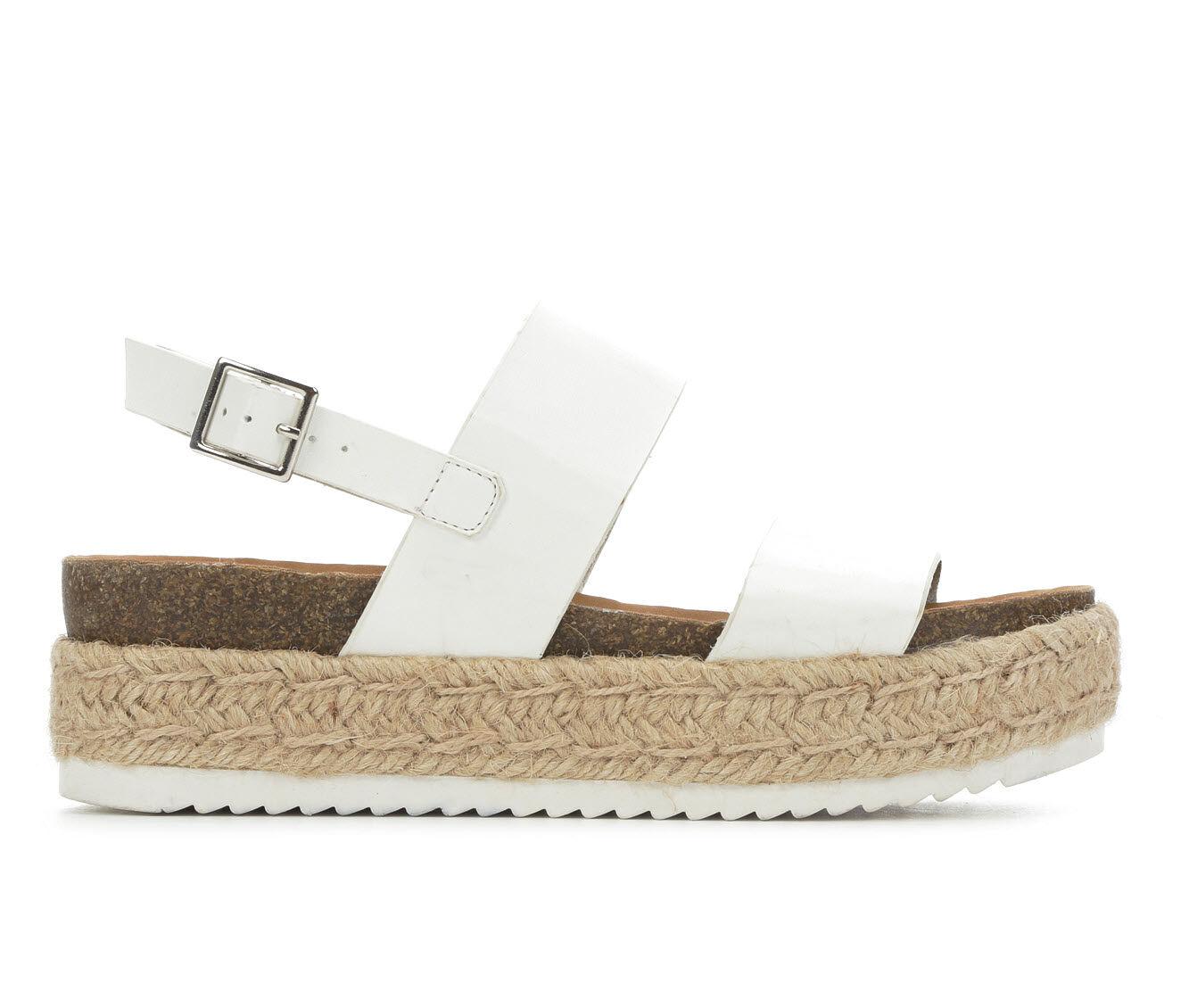 Women's Soda Kazoo Flatform Sandals White