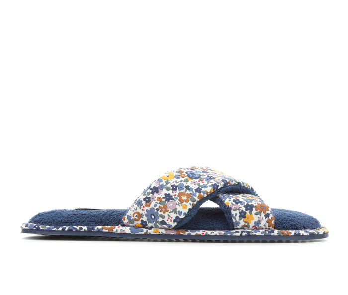Jessica Simpson Cotton Floral Cross Band Slide Slippers