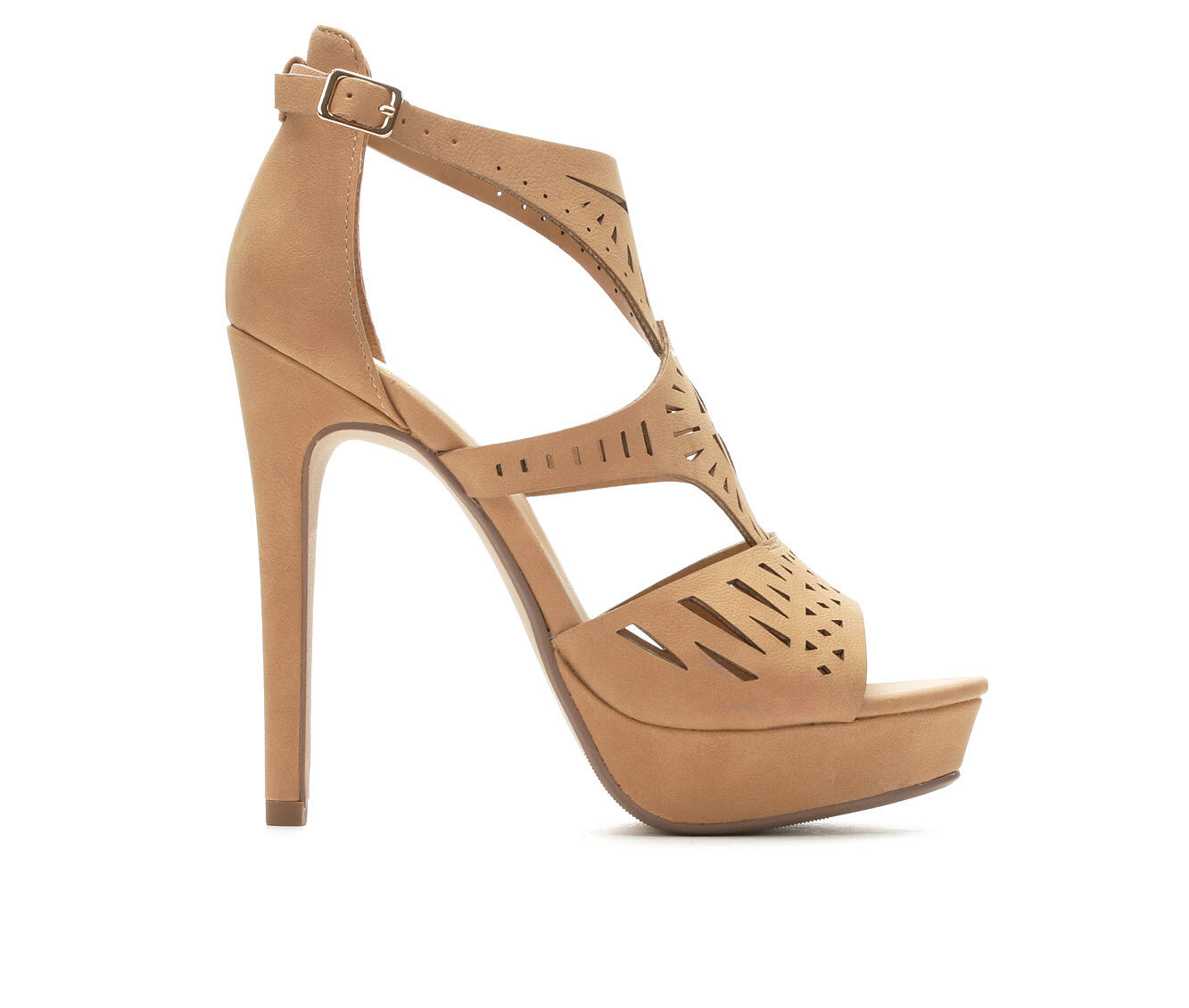Women's Delicious Abagale Heeled Sandals Dk Sand HL PU