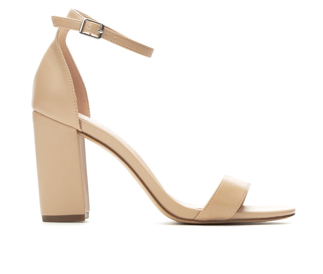 choose authentic Women's Madden Girl Beella Heeled Sandals Blush Smooth