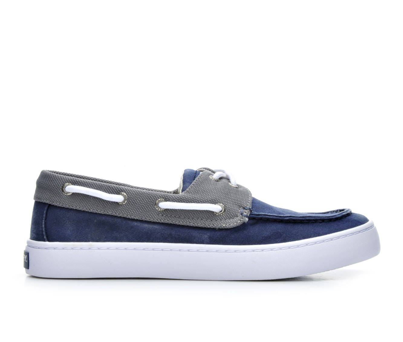 choose comfortable new Men's Sperry Cutter 2 Eye Boat Shoes Navy/Grey